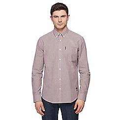 Ben Sherman - Dark blue mini gingham shirt