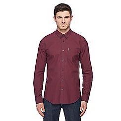 Ben Sherman - Wine mini gingham shirt