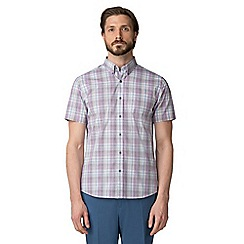 Jeff Banks - Purple graded check shirt