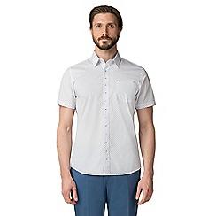 Jeff Banks - White oval print shirt