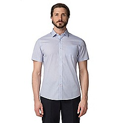 Jeff Banks - Blue deco print shirt