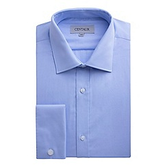 Centaur Big & Tall - Big and tall blue plain double cuff extra long fit shirt