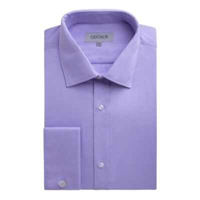 Centaur Big & Tall Big and tall lilac plain double cuff extra long fit shirt - . -