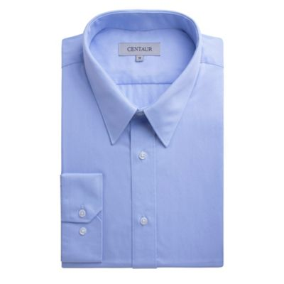 Centaur Big & Tall Big and tall blue plain single cuff generous fit shirt - . -