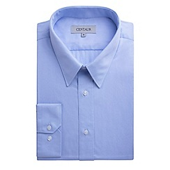 Centaur Big & Tall - Big and tall blue plain single cuff generous fit shirt