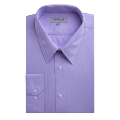 Centaur Big & Tall Big and tall lilac plain single cuff generous fit shirt - . -