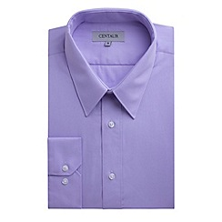 Centaur Big & Tall - Big and tall lilac plain single cuff generous fit shirt