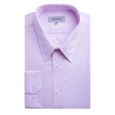 Centaur Big & Tall Big and tall pink plain single cuff generous fit shirt - . -