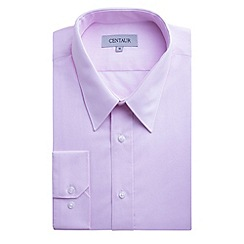 Centaur Big & Tall - Big and tall pink plain single cuff generous fit shirt