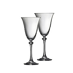Galway Crystal - Liberty pair of wine goblets