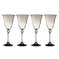 Galway Living - Liberty set of four noir goblets