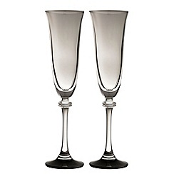 Galway Living - Liberty pair of noir champagne flutes