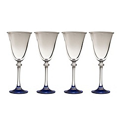 Galway Living - Liberty set of four sapphire goblets