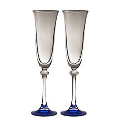 Galway Living - Liberty pair of sapphire champagne flutes