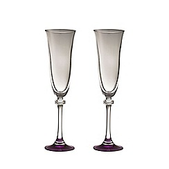 Galway Living - Liberty pair of amethyst champagne