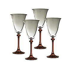 Galway Crystal - Liberty set of four red wine goblets