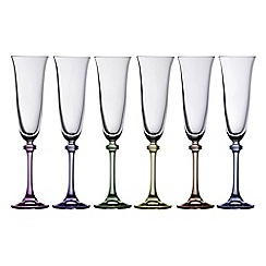 Galway Crystal - Liberty party pack of six flute glasses