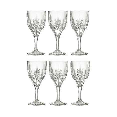 Galway Living - Kells+ Set Of 6 Crystal Goblets