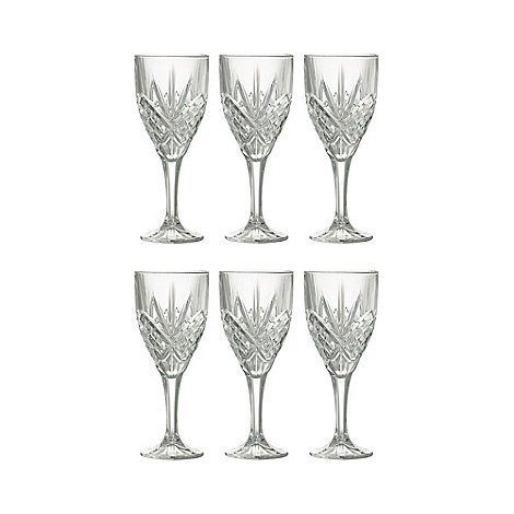 Galway Living - Tralee set of six wine glasses