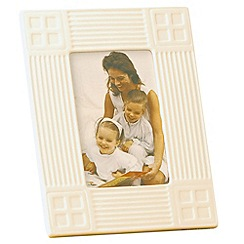 Belleek Living - Ivory 'Inspired' 6X4 Photo Frame