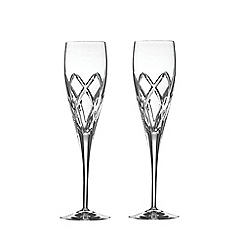 Galway Living - Mystique pair of champagne flutes