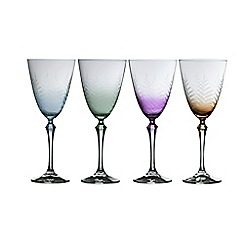 Galway Living - Fern set of four wine glasses