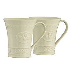 Belleek Living - Claddagh set of two mugs