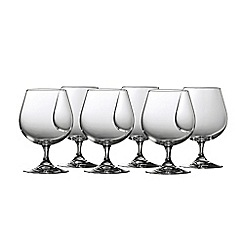 Galway Crystal - Clarity Set of 6 small brandy glass