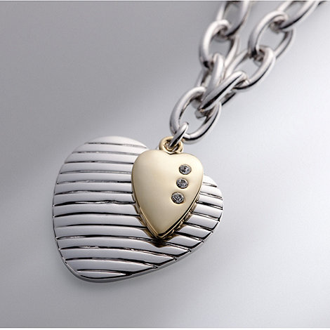 Belleek Living - Ivory +Belleek Designer+ Two Hearts Necklace