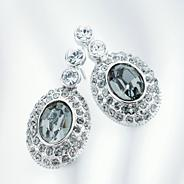 Silver midnight earrings