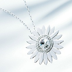 Belleek Living - Silver daisy gem necklace