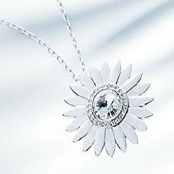 Belleek Living - Silver daisy gem necklace
