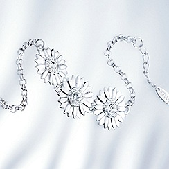 Belleek Living - Silver daisy gem bracelet