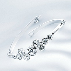 Belleek Living - Silver cluster diamante bangle