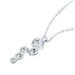 Belleek Living - Silver cluster diamante necklace