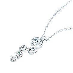 Belleek Living - Silver cluster diamante necklace