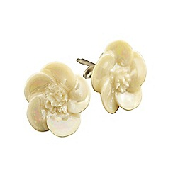 Belleek Living - Ivory wild rose earrings