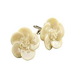 Belleek Living - Ivory wild rose earrings