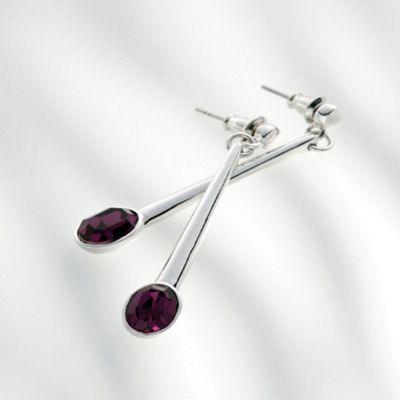 Belleek Living Amethyst Earrings - . -