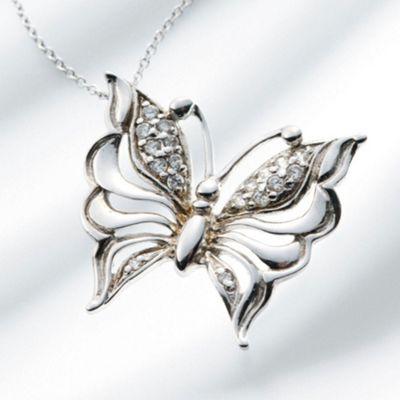 Belleek Living Butterfly Necklace - . -
