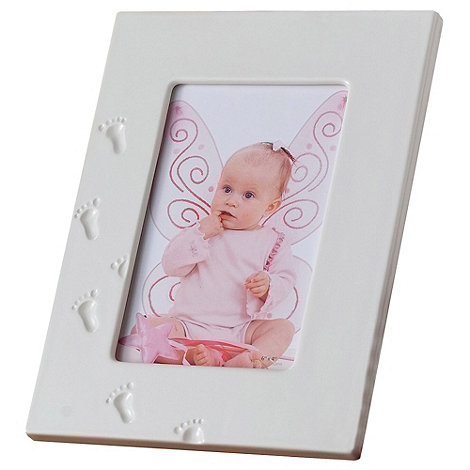 Belleek Living - Ivory +Baby+ 6X4 Photo Frame