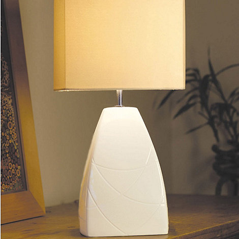 Belleek Living - Ivory +Eclipse+ Lamp