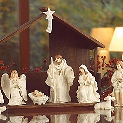 Belleek Living - Ivory Christmas Nativity Set