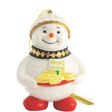 Belleek Living - Multicoloured Snowman with cookies hanging Christmas ornament