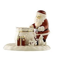 Belleek Living - Christmas ivory Santa votive candleholder
