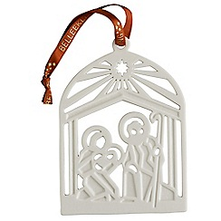 Belleek Living - Nativity Flat Ornament
