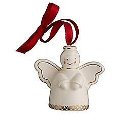 Belleek Living - Christmas Treasures Mini  Angel Ornament