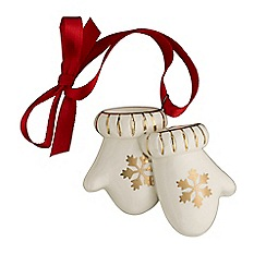 Belleek Living - Christmas Treasures Mini Mittens Ornament