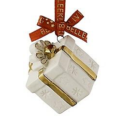 Belleek Living - Christmas Treasures Mini Gift Box Ornament
