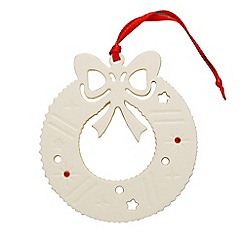 Belleek Living - Christmas Wreath ornament